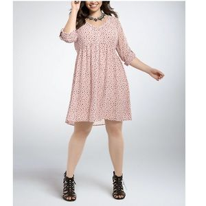 Torrid Heart Print Chiffon Shirt Dress 0X
